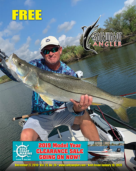 Danny Duff — 36 in. 17 lb. Snook caught in the Upper Laguna Madre on a hand tied fly.