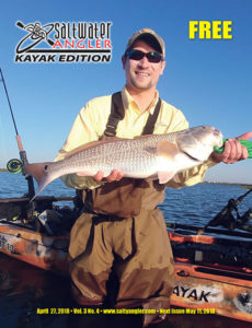 Saltwater Angler Kayak Magazine April 27th Redfish in Corpus Christi