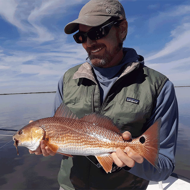 Fly fishing for redfish in Corpus Christi