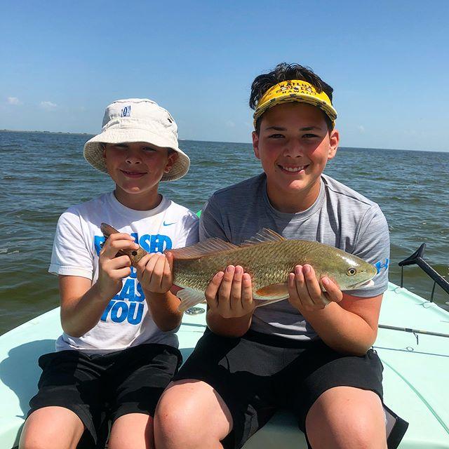 Kids fishing in Corpus Christi