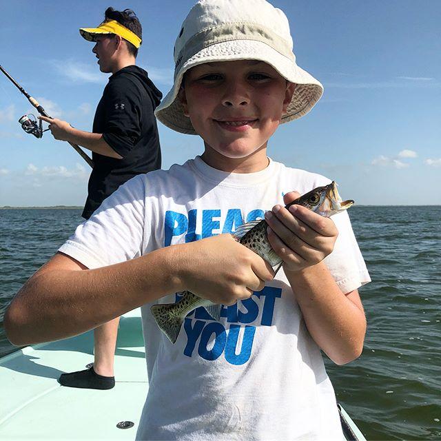 Fishing guide taking kids fishing in Corpus Christi