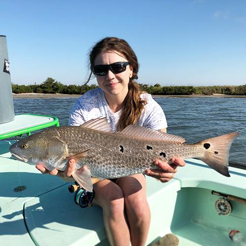 Fly fishing for redfish in Corpus Christi
