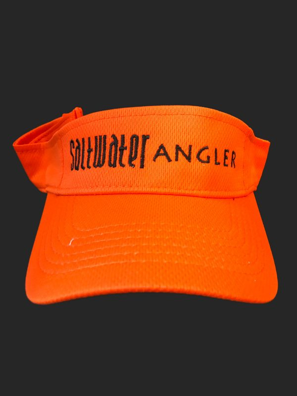 Saltwater Angler Orange and Black Visor