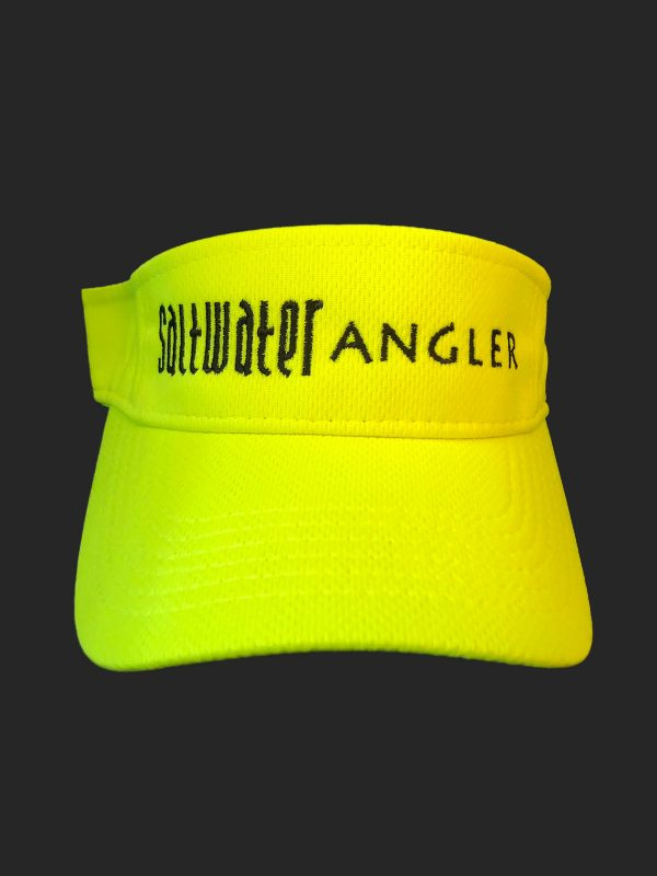 Saltwater Angler Neon Yellow and Black Visor