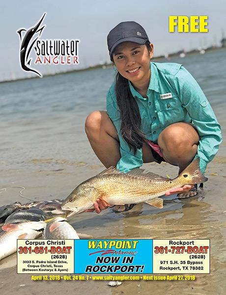 Saltwater Angler Texas fishing magazine April 13th 2018