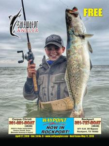 Saltwater Angler Fishing Magazine April 27th featuring Baffin Bay trout