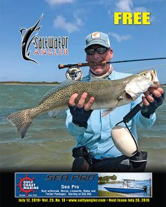 Mike Warfield sight casted this trout in the Upper Laguna Madre on a Clouser minnow on May 31, 2019