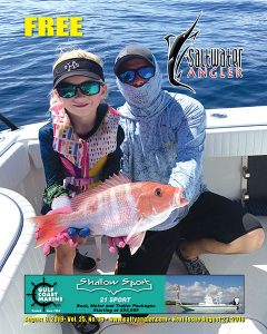 Faith Halford with a Red Snapper in Rockport