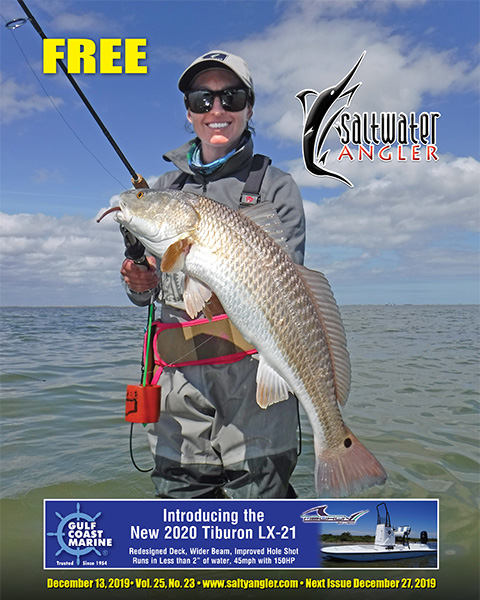 Erica Rae Hirsch with a redfish in the Lower Laguna Madre