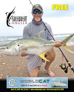 Capt Jeff Wolda with a Jack Crevalle at Padre Island National Seashore