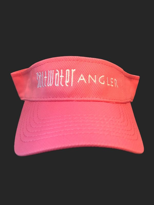 Saltwater Angler Pink and White Visor