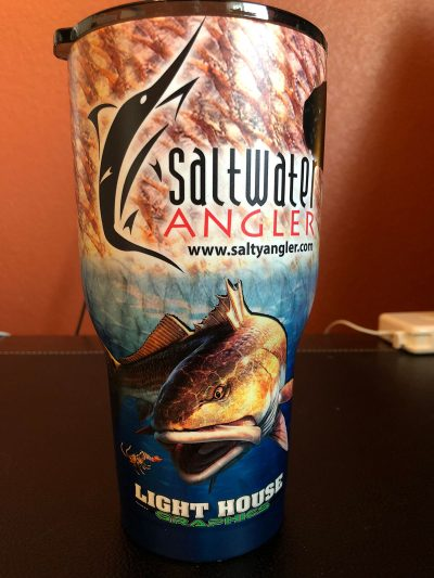 Saltwater Angler Blue RTIC Insulated Cup