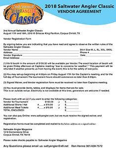 Saltwater Angler Classic Vendor Agreement