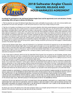 Saltwater Angler Classic Waiver