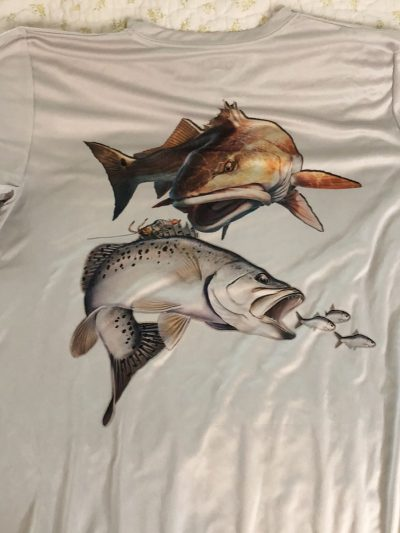 Saltwater Angler DRI-Fit Redfish & Trout Shirt