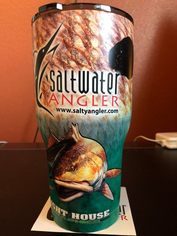 Saltwater Angler Green RTIC Insulated Cup