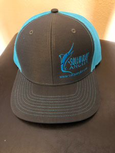 Saltwater Angler Hat Charcoal Blue
