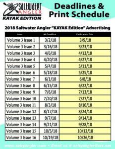 2018 Kayak Magazine Publication Dates