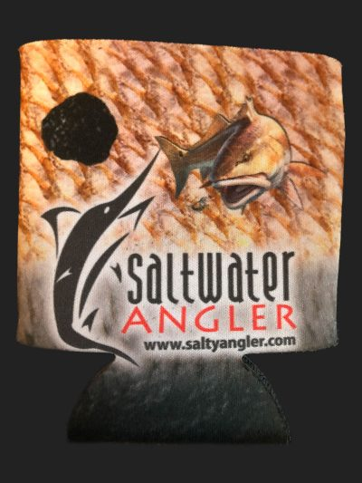 Saltwater Angler Black Redfish Koozie