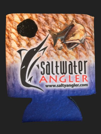 Saltwater Angler Blue Redfish Koozie