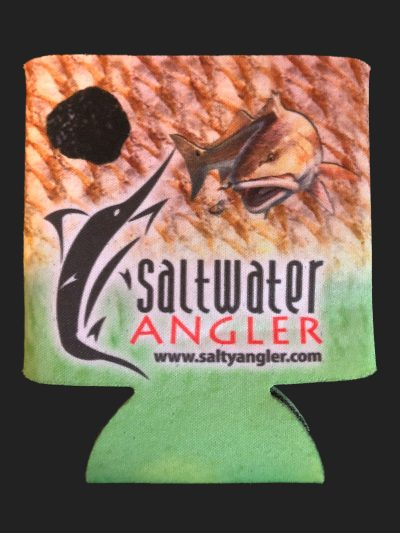 Saltwater Angler Green Redfish Koozie