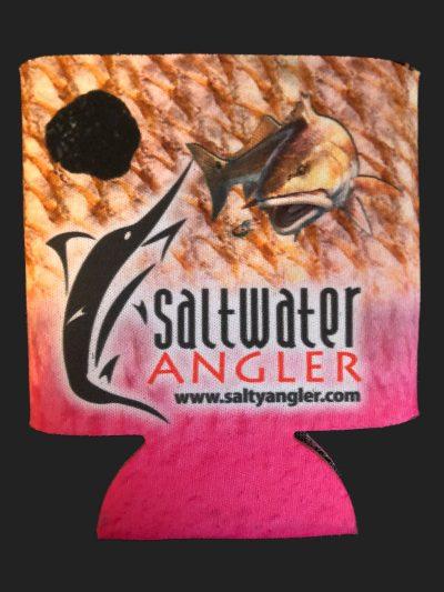 Saltwater Angler Pink Koozie