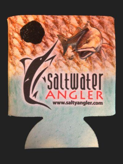Saltwater Angler Teal Redfish Koozie