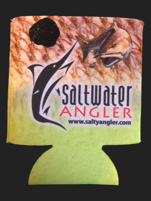 Saltwater Angler Yellow Redfish Koozie