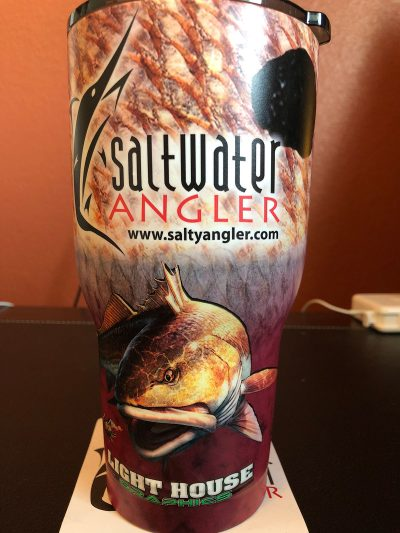 Saltwater Angler Red RTIC Insulated Cup