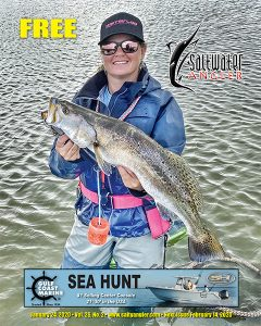 Chelsie Thompson in Port O'Connor - just over 6lb trout caught on plum nasty soft dine xl.