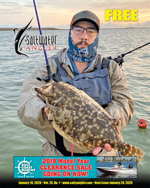 Three pound flounder caught in Port Bay Texas