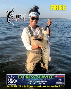 Paige Butler with a trout in Port Mansfield, Texas