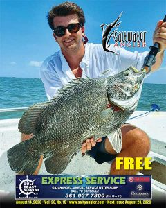 Jake Arrell with a Tripletail in Rockport, Texas