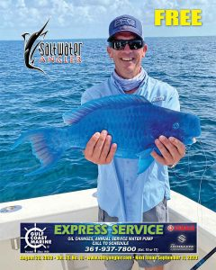 Bill McCalla with a Blue Parrotfish caught using ballyhoo in Key West, Florida