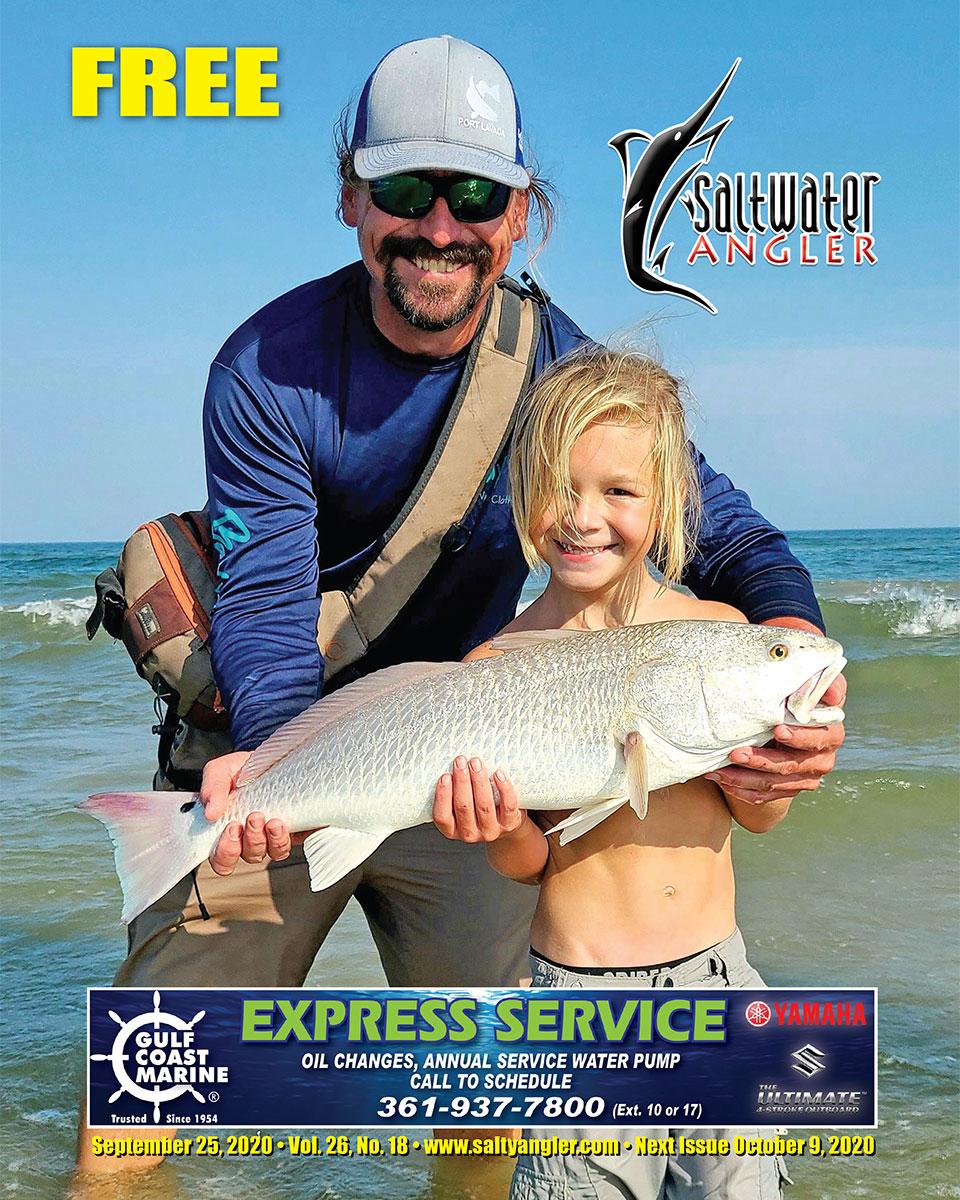 "29"" Redfish in Port O'Connor"