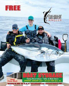 Clay Moats with a 198 lb big eye tuna