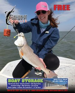 Carah Lickteig caught and with her personal best 7-pound redfish