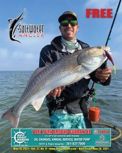 9 pound Redfish in Port Mansfield, TX