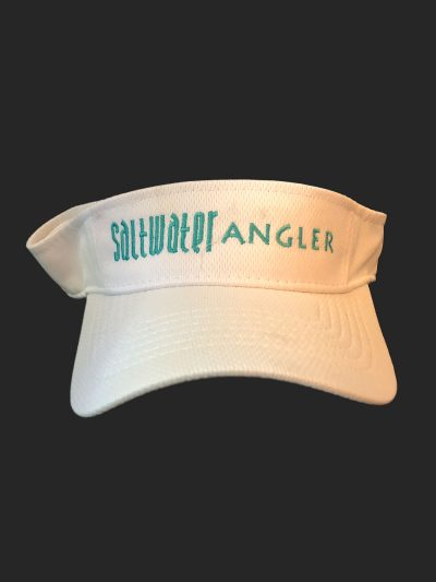 Saltwater Angler White and Teal Visor